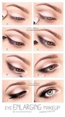 Widziałyście, jak wykonać makijaż powiększający oko? :)