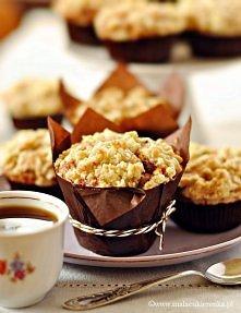 Muffiny z jabłkiem krówkami...