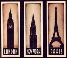 LONDON :D NEW YORK *_* PARIS <3