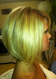 Golden bob hairstyle