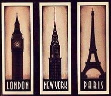 LONDON :D NEW YORK *_* PARIS <3