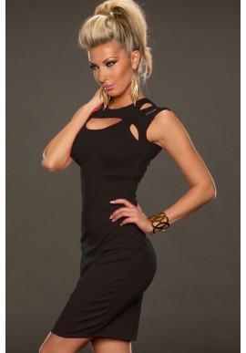 Fantastyczna czarna sukienka do kolan  Niezwykła elegancja dla prawdziwych kobiet.