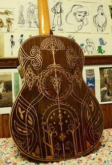 gitara inspirowana władcą p...