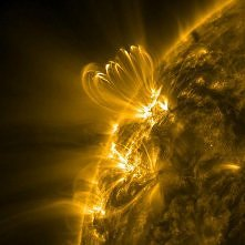 Amazing sun storm