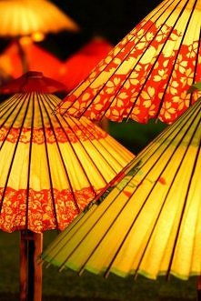 Japanese umbrellas, Wagasa 和傘: photo by freeway