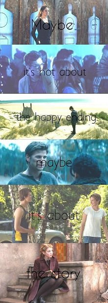 Maybe it's not about the happy ending, maybe it's about the story...
