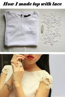 Drobna przeróbka, wynikiem czego elegancka bluzeczka