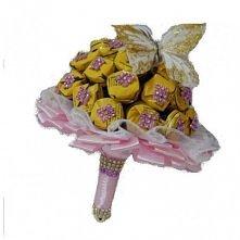 bukiet z cukierków na prezent ślubny,chrzest,komunie...