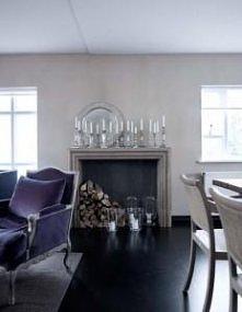 salon z akcentem fioletu