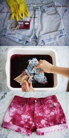 DIY Dekatyzowane szorty w 10 min
