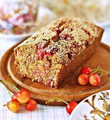 Ciasto z mąki pełnoziarnistej z owocami, bez cukru. Przepis po kliknięciu w zdjęcie.