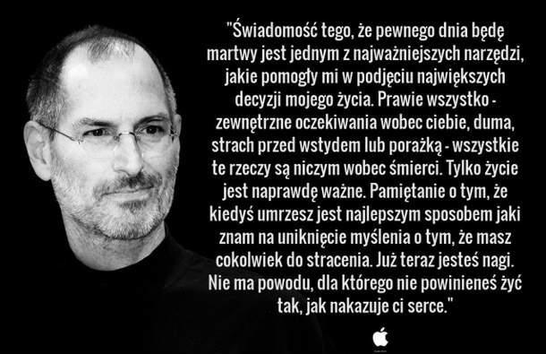 steve jobs cytaty żyj jak nakazuje ci serce   Steve Jobs na karteczki, cytaty  steve jobs cytaty