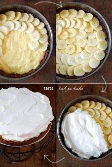 Tarta z bananami i kremem b...