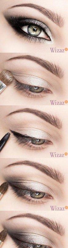 metaliczny makijaż oka