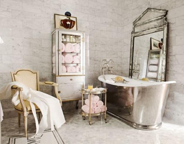 Metaliczna łazienka We Francuskim Stylu Klasyczny Design W