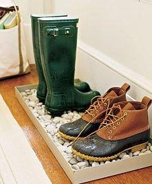 sposób na mokre buty