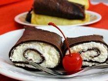 naleśniki z proszkiem budyniowym 1 budyń czekoladowy (40 gram) bez cukru lub 1 budyń śmietankowy lub waniliowy 130 gram mąki pszennej 250 ml mleka 2 jaja 1 łyżeczka ciemnego kak...