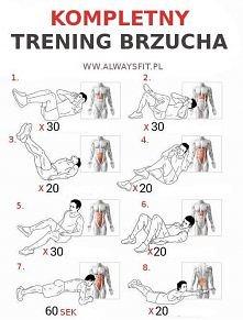 trening brzucha ;D