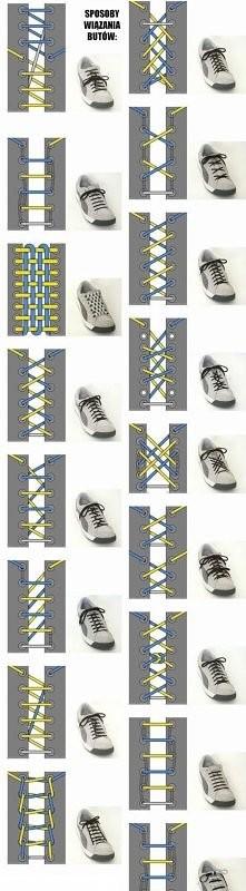ciekawe sposoby na wiązanie butów