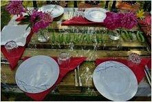 zielone groszki na stole :)