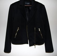 ATMOSPHERE - Śliczna ramoneska/kurtka ze złotymi zamkami