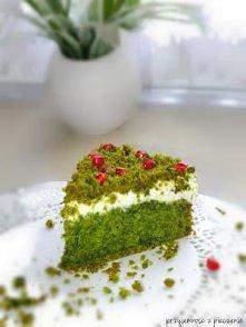 Ciasto Zielony Mech bez sztucznych barwników. Robiłam dziś, jest smaczne, przepis godny polecenia.