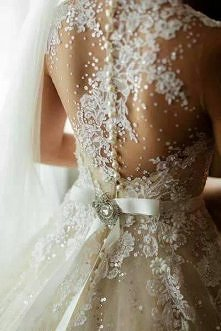 Gorgeous back wedding dress