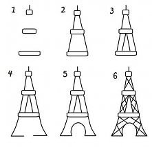 narysuj wieżę eiffla ;3