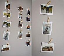 Zdjęcia na sznurku - diy