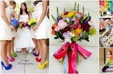 Kolorowo (;  Tak bym chciała na swoim ślubie... :)