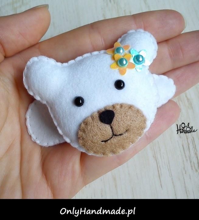 Spiniś Poli- spineczkowy miś dla małej modnisi :) Zobacz na OnlyHandmade.pl