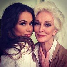 jaka ładna babcia ;o chciałbym wygladac tak na starość :o