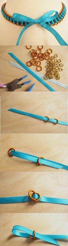 Śliczna bransoletka z kokardką DIY :)