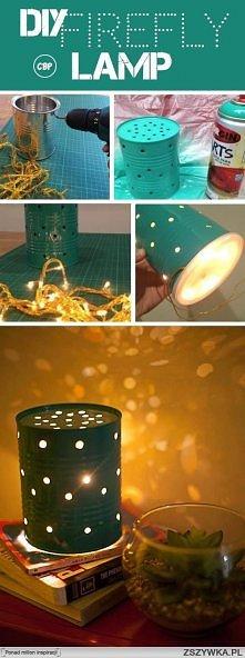 Jak zrobić ciekawą lampkę z puszki...