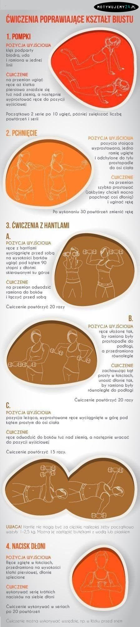 ćwiczenia modelujące biust