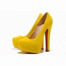 Yellow Christian Louboutin Daffy 160mm Suede Pumps Red Sole Shoes