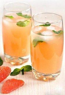 Koktajl z miętą i grejpfrutem  Przepis jest bardzo prosty: 1 grejpfrut 250 ml...