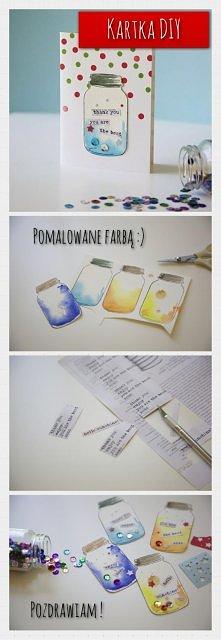 DIY pomysłowa kartka