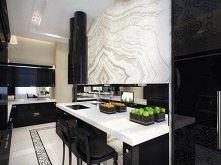 Kuchnia czarno-biała.