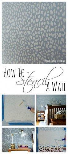 Wykorzystanie szablonu,aby łatwiej można było pomalować ścianę na ciekawy wzo...