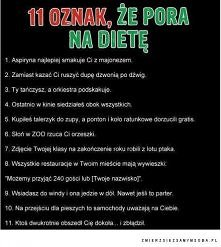 11 oznak, że pora na dietę :)