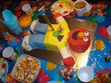 Elmo, mój pierwszy tort w stylu angielskim na roczek synka :)