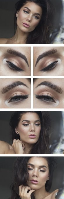 seksowny, lekki makijaż ;-)