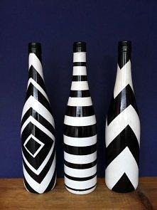 recznie malowane butelki, idealne na prezent :)