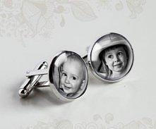Personalizowane spinki do mankietów z Waszymi zdjęciami dostępne w butiku MadameAllure! Spinki do mankietów na zamówienie :)