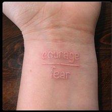 odwaga ------ strach