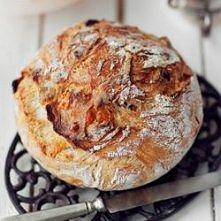 Pyszny chleb z grubą i chru...