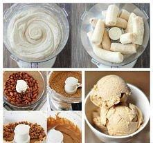 Dietetyczne i pożywne lody migdałowo – bananowe | Motywator Ditetetyczny Skła...