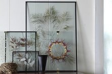 Pressed flowers in a glass frame