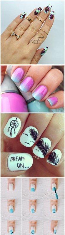 pomysły i tipy paznokciowe : ) te na koncu robią wrażenie :3